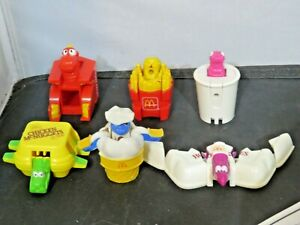 Vintage 1990 McDonalds Changeables Happy Meal Toy Dino Transformers Lot of 6
