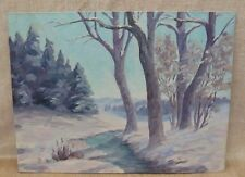 Oil Painting by Emilie Curry of a Woodland in Winter with Snow Cincinnati artist