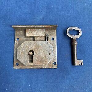 Vintage Half Mortise Lock & Key Cabinet Furniture Drawer Hardware