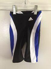 Adidas Infinitex Racing Swim Shorts - Boy's size 22 - Blue/Black/White