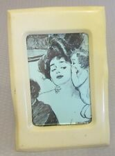 "antique thin ivorine CELLULOID PICTURE FRAME 6"" easel back"