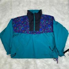 """VINTAGE COLUMBIA ISLE COVE PULLOVER JACKET SIZE XL JADE """"NWT"""""""
