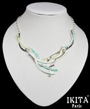 Luxus Statement Kette Halskette Collier  Ikita Paris Emaille Metall