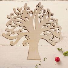 Miniature DIY Laser Cut Decorative Hollow Tree Shape Wooden Craft Embellishments