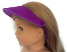 Purple Glitter Visor Hat for 18 inch American Girl Doll Clothes Accessories