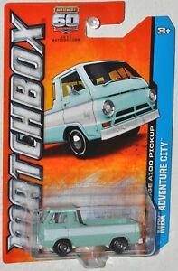 Matchbox 60th 2013 #11 MBX Adventure City 1966 Dodge A100 Pickup MOC VHTF