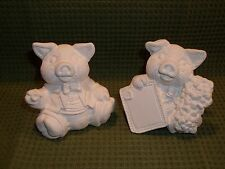 Bride and Groom / Wedding Couple Pigs  ~ Ceramic Bisque Ready to Paint