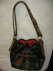 DOONEY & BOURKE LARGE DRAWSTRING BAG---EX COND--BLACK-AUTHENTIC D&B--FREE SHIP!