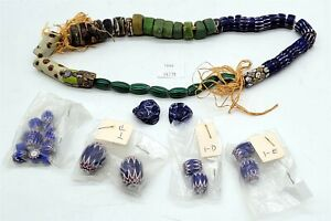 ThriftChi ~ African Trade Beads - Blues & Greens, Loose+