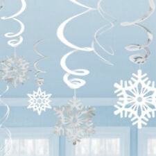 Snowflake Swirls Hanging Decorations Pack of 6 by AMSCAN