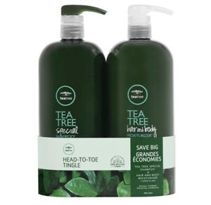 Paul Mitchell Tea Tree Special Color Shampoo and Hair & Body Moisturizer Ltr Duo