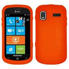 AMZER Silicone Soft Skin Jelly Case Cover For Samsung Focus I917 - Orange