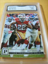 MATT BREIDA SF 49ERS 2018 PANINI ROOKIE RC # 261 GRADED 10 L@@@K