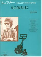 "BOB DYLAN ""OUTLAW BLUES"" SHEET MUSIC-PIANO/VOCAL/GUITAR/CHORDS-1965-RARE-NEW!!"