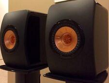 New KEF LS50 Bookshelf Speakers - High Gloss Piano Black (Pair)