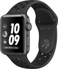 Apple Watch Series 3 Nike+ 42mm Aluminium GPS Smartwatch - Schwarz (MQL42QL/A)