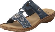 Rieker Ladies Blue Mule Sandals UK 5 EU 38 JS54 62