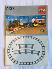 LEGO 7727 Freight Steam Train instructions vintage 12v trains 1980s 1983 classic