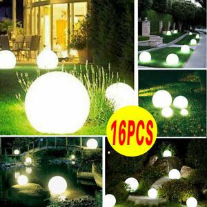 Large Solar Powered Globe Ball Garden Stake Post Lights Path Ground LED Lighting