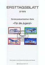 BRD 1979: Luftfahrt! Jugendmarken-Ersttagsblatt Nr 1005-1008 Bonner Stempel 1608