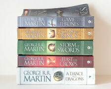 Lot of 5 (#1-5) GAME OF THRONES Complete Series Set TRADE PB & HARDCOVER Books