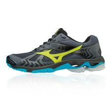 Mizuno Mens Wave Bolt 7 Indoor Court Shoes Black Blue Grey Sports Squash