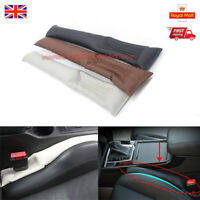 2Pcs PU Leather Car Seat Gap Leakproof Filler Cushion Stopper Pad Protec Sleev