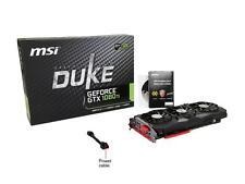 MSI GeForce GTX 1080 Ti  DUKE 11G OC 11GB 352-Bit GDDR5X PCIe Graphics Card