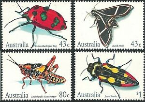 1991 Australian Stamps - Australian Insects - Sheet Set MUH