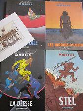 LOT1 à 4 LE MONDE D'EDENA, MOEBIUS. 1re 2,3,4 EO,+ex libris signé , TBE