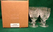 Waterford BOYNE (CUT FOOT) Claret Glass  SET OF FOUR  MINT IN BOX