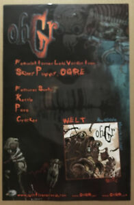 Skinny Puppy OHGR Rare 2000 PROMO POSTER For Welt CD NEVER DISPLAYED 11x17