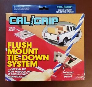 TIE-DOWN SYSTEM Cal Grip FLUSH MOUNT cinches automatically  Model # CV-037 NEW