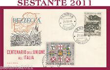 ITALIA FDC RODIA CENTENARIO DELL'UNIONE ALL'ITALIA BEZZECCA 1966 GENOVA G50