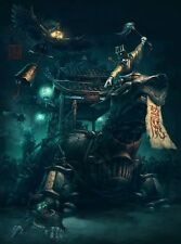Exorcist Chinese Steampunk Print by James Ng
