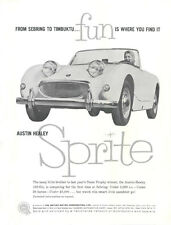 Vintage & Rare 1959 Austin Healey Sprite Sebring Ad Better Than Original Print