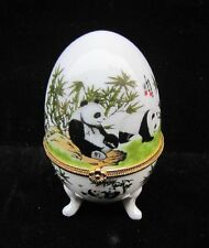 Free shipping Chinese egg-shaped porcelain - Painting Panda box
