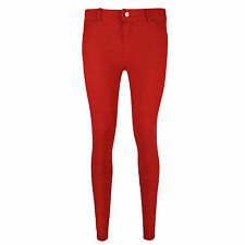 NEW LADIES SKINNY FIT COLOURED STRETCHY JEANS WOMENS JEGGINGS TROUSERS 8-16