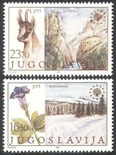 Yugoslavia 1983 Chamois Deer/Flowers/Nature Protection/Parks/Animals 2v (n40655)