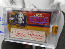 """TIPPI HEDREN """"the BIRDS"""" autograph RED INK 1/18 signed LEAF CELEBRITY CUTS auto"""