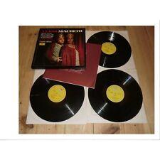 VERDI macbeth CLAUDIO ABBADO / PLACIDO DOMINGO - OPERA DGG BOX 3 Lp's 1976
