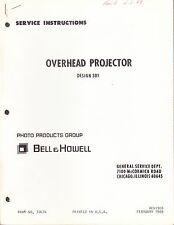 BELL & HOWELL SERVICE MANUAL: 301 PROJECTOR -1969