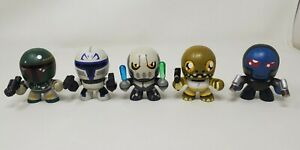 "Star Wars Hasbro Mighty Muggs Lot Of 5 Hasbro 3"" Mini Boba Fett"