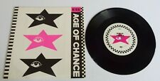 """Age Of Chance Kiss 7"""" Single Pink Sleeve - VG+"""