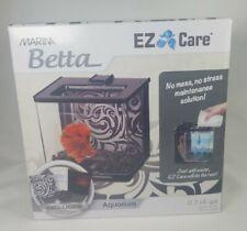 Marina Betta Ez Care 0.7-Gallon Aquarium Starter Kit, Black - Betta Fish Tank