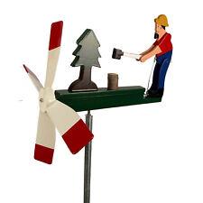 Man Chopping Wood Chopper Whirligig Handmade Made in USA