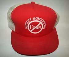 Vintage Boycott Coke Snapback Trucker Hat Foam and Mesh