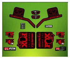 PEGATINAS HORQUILLA FORK FACTORY FOX 32 ELX13 STICKERS AUFKLEBER AUTOCOLLANT MTB