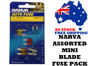 Narva 52700BL Assorted MINI Blade Fuse Pack - Car Amplifiers, Auto Electrical