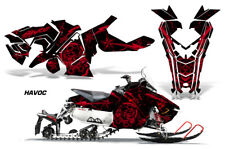 Polaris AXYS RUSH Pro S Sled Wrap Graphic Decal Kit Snowmobile 2015+ HAVOC RED